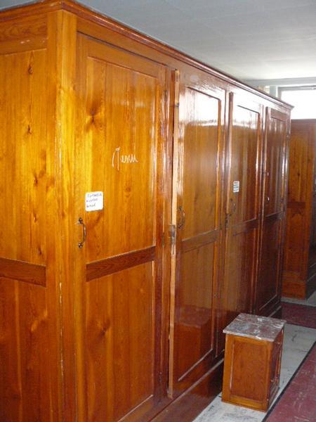 Oude Antieke Historische Bouwmaterialen Kloosterkasten Kast